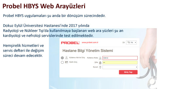 Probel HBYS Web Arayüzleri