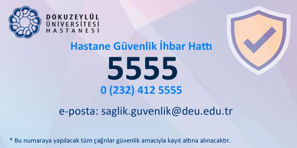 5555 - Hastane Güvenlik İhbar Hattı