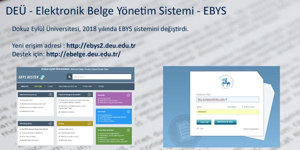 DEÜ - Elektronik Belge Yönetim Sistemi - EBYS